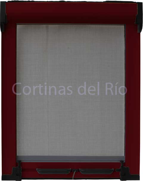 Mosquitera enrollable color RAL 3005 Rojo vino