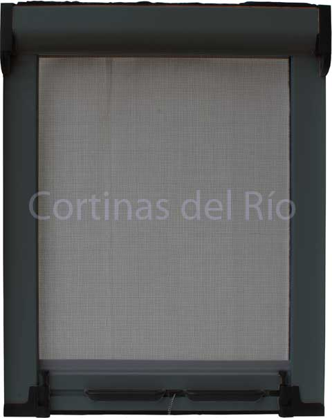 Mosquitera enrollable color RAL 7012 Gris basalto